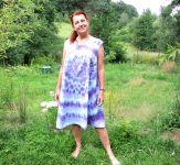 Šaty letní BOHYNĚ - batika na objednávku