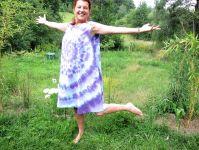 Letní šaty XXL batika Fialová