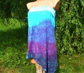 Sukně+top batika modrá
