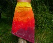 Sukně+top batika ohnivá