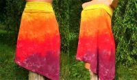SUKNĚ+TOP 2v1 OHNIVÁ - batika na objednávku