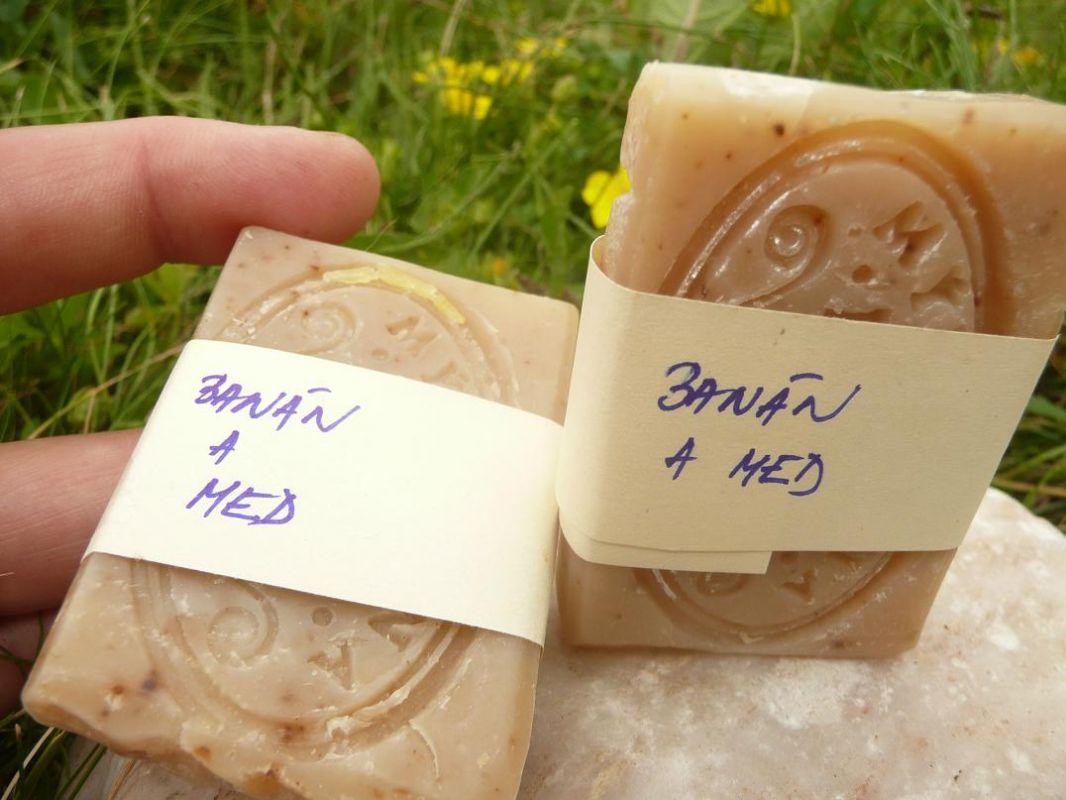 Přírodní mýdlo Banán a med - vzorek