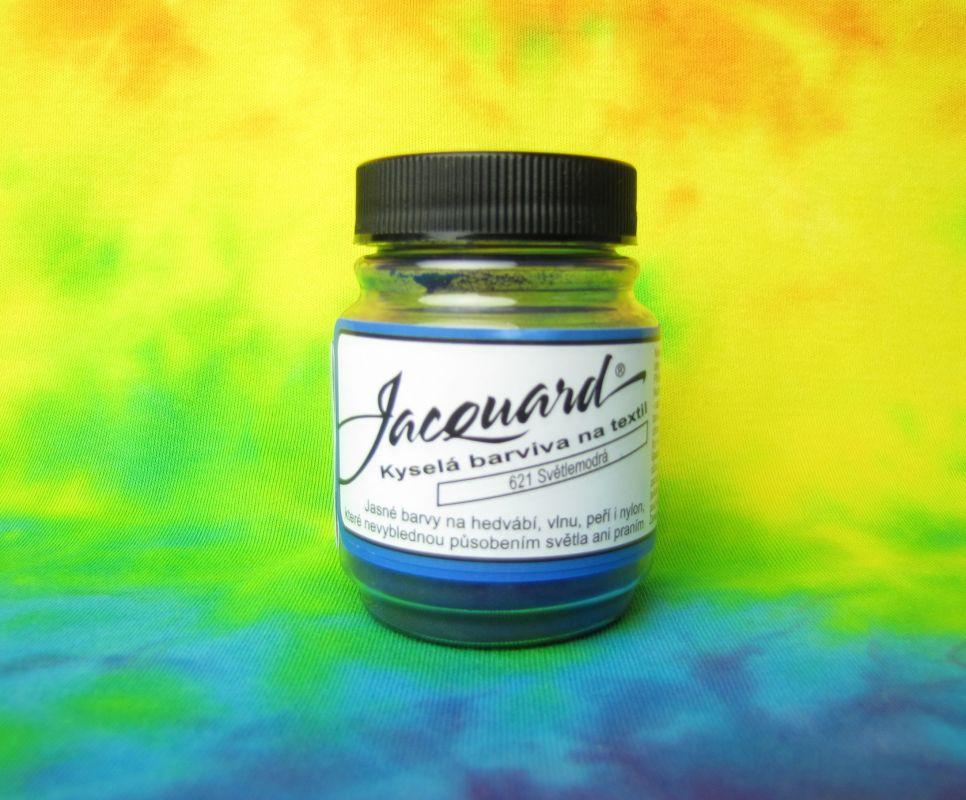 Barva na vlnu a hedvábí Světle modrá