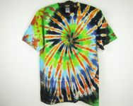 Batikované tričko Fire night, M