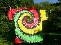 Batikované tričko pánské rasta Jamajka
