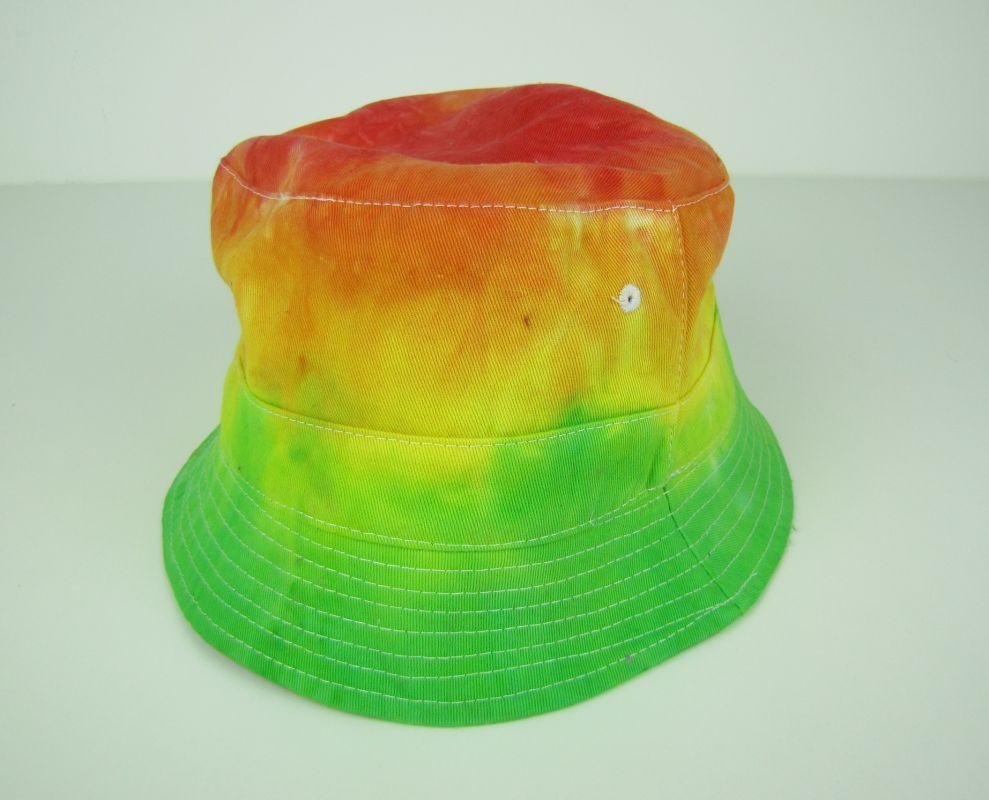 Batikovaný klobouček letní Svěží zelená