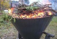 Kon-tiki pec (retorta) na výrobu biouhlu 200 litrů v akci