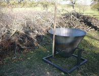 Kon-tiki pec (retorta) na výrobu biouhlu 200 litrů