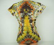 Dámské tričko Žhavé srdce přírodní, batika L-XL Šťastní lidé-M