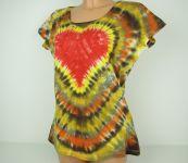 Dámské batikované tričko se srdcem