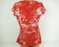 Červené tričko dámské batika