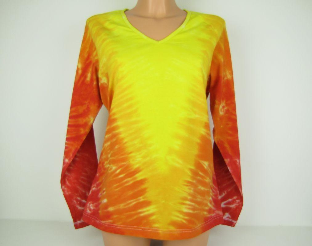 Dámské batikované tričko Zlaté véčko