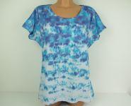 Dámské modré tričko batika Moře