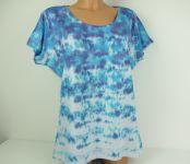 Dámské tričko modré batika Moře, XXL