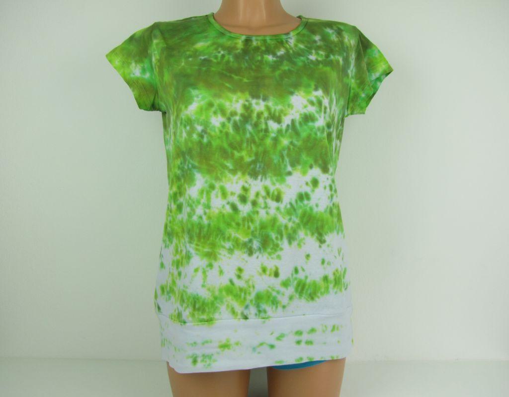 Dámské tričko tunika zelená Tráva