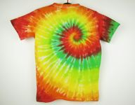 Dětské barevné tričko batika Happy