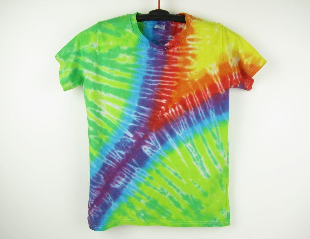 Dětské batikované tričko Rainbow zip