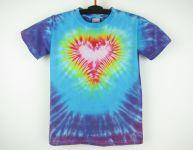 Dětské batikované tričko Srdíčko, M