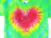 Batikované srdíčko dětské tričko