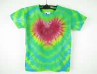 Dětské tričko Srdíčko v zelené, XS