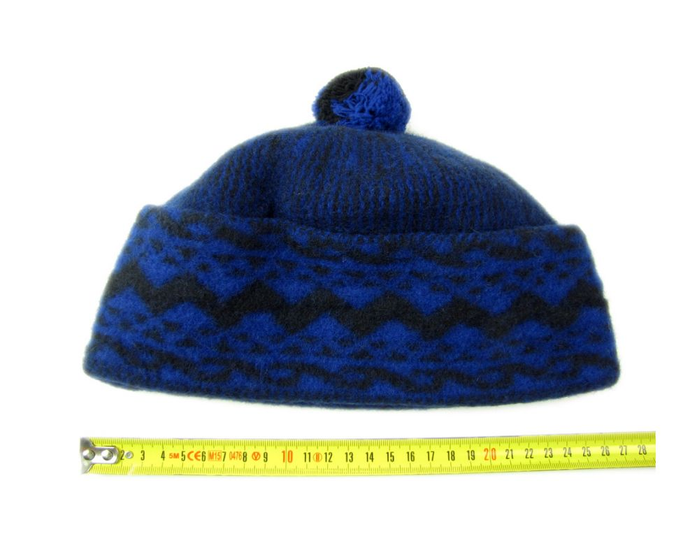 Zmijovka - čepice zmijovka velikost 26 tmavě modrá / černá