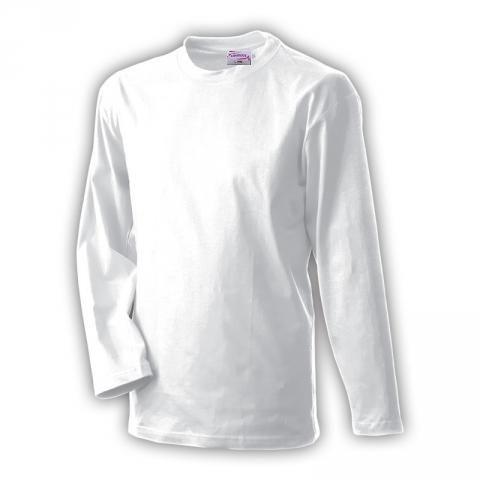 Bílé tričko dlouhý rukáv bavlna