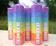 Svíčky z palmového vosku - čakrové