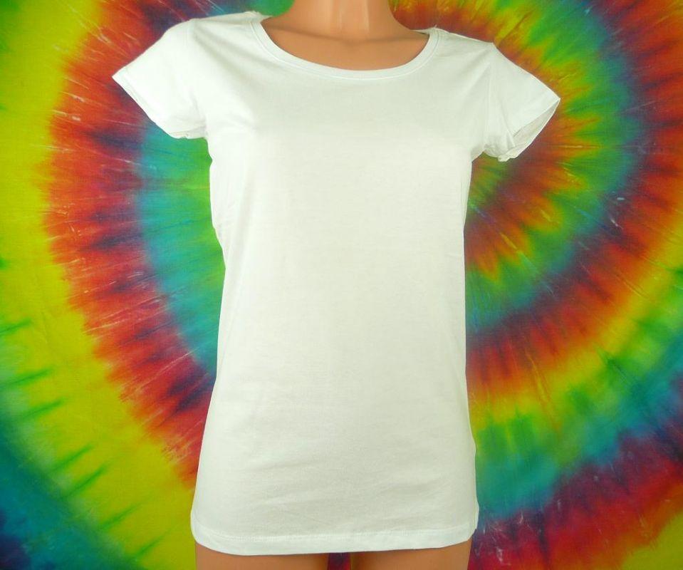 Bílé dámské tričko bavlna