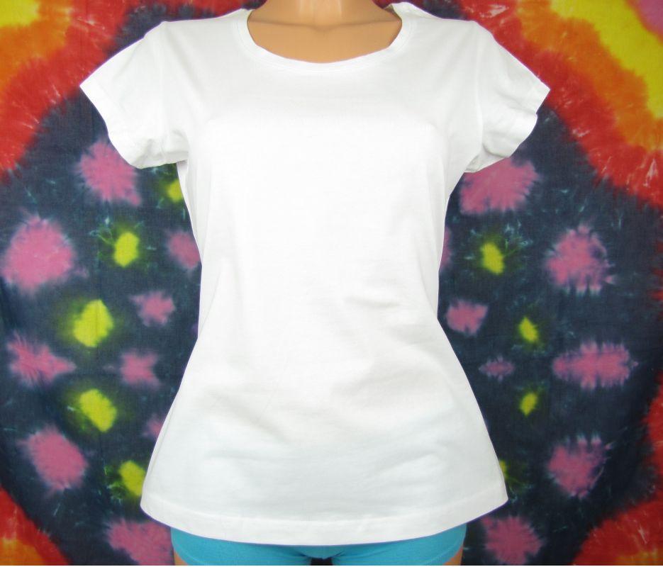 Dámské bílé tričko kvalitní