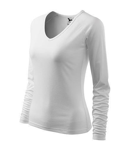 Dámské tričko bílé dlouhý rukáv véčko