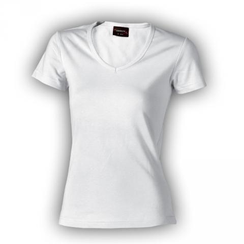 Dámské tričko bílé VÉČKO - bavlna vysoká gramáž (210g/m2) Lambeste