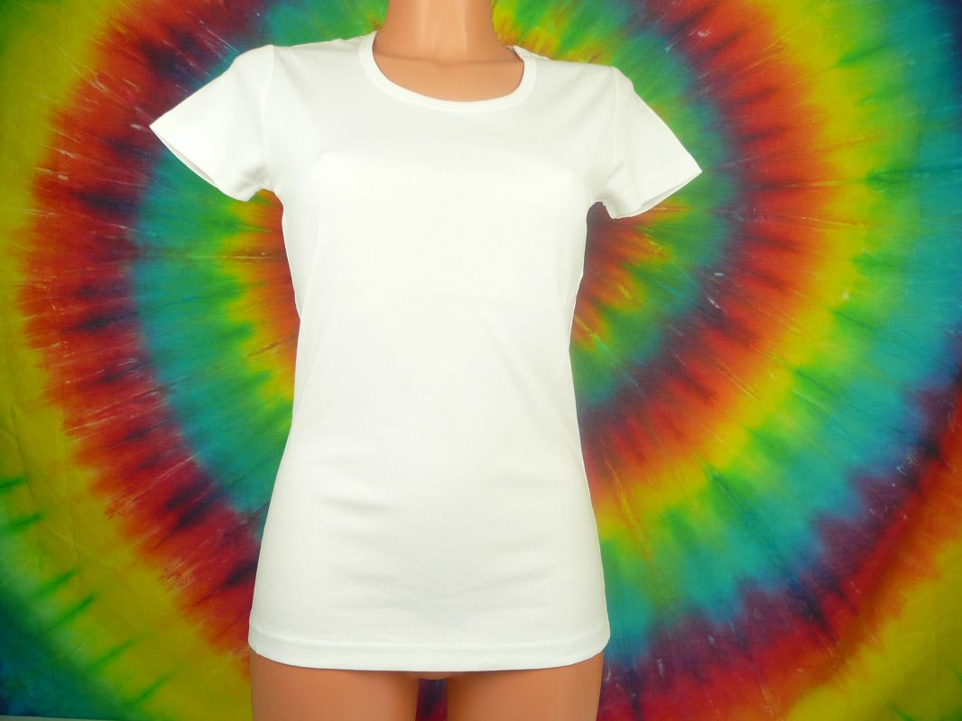 Dámské tričko bílé - vysoká gramáž (210g/m2) Lambeste