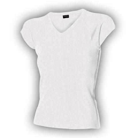 Bílé dámské tričko véčko vysoká gramáž