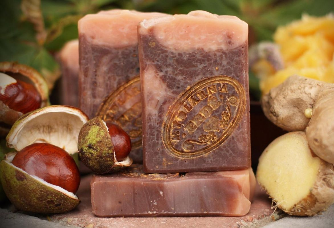 Přírodní mýdlo-kaštanové se zázvorem