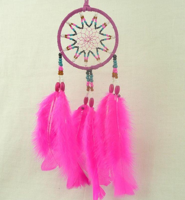 Indiánský lapač snů růžový