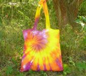 Taška nákupní přes rameno batika Sluneční