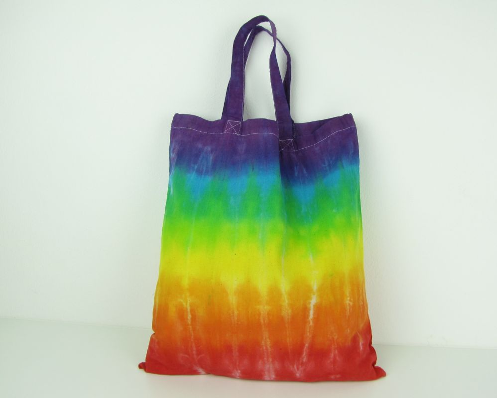 Duhová taška látková batikovaná