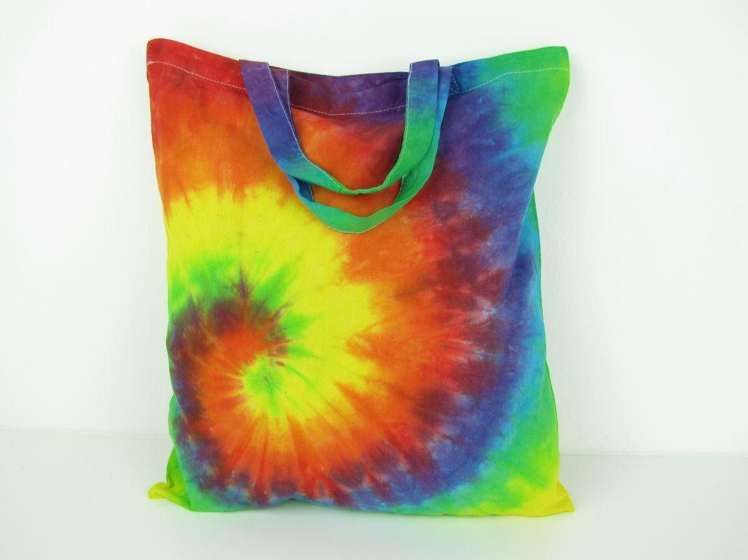 Duhová taška nákupní látková