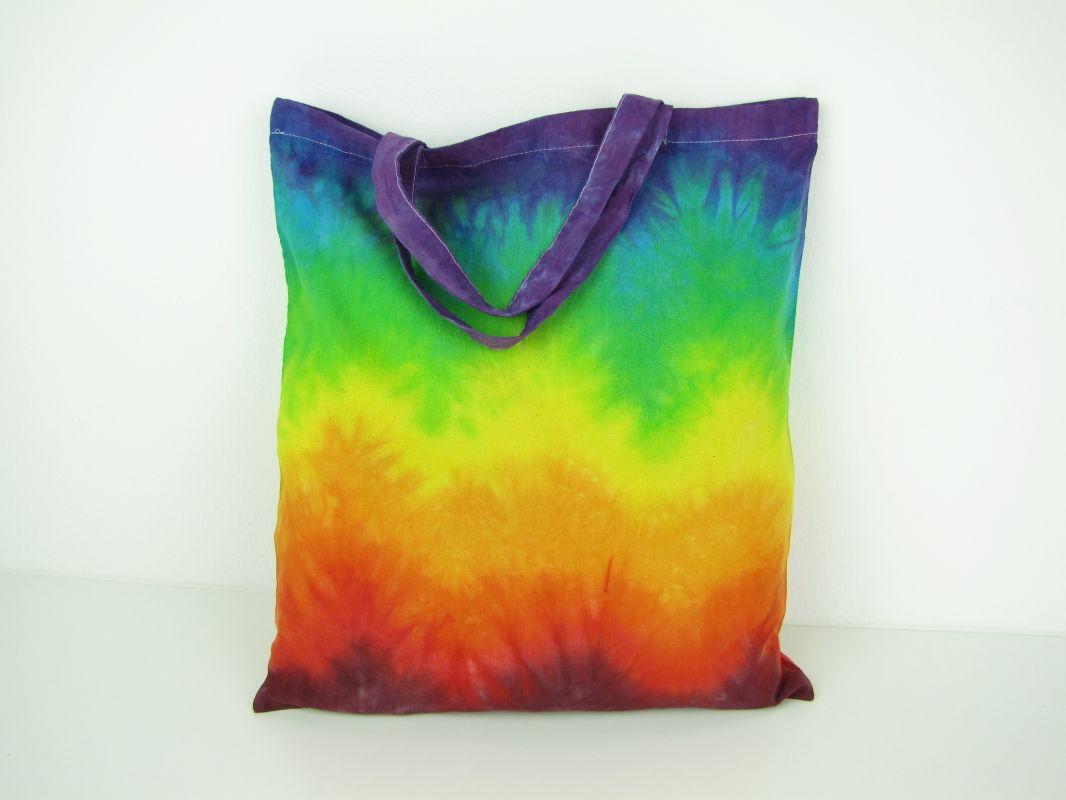 Látková taška Duhové vlny