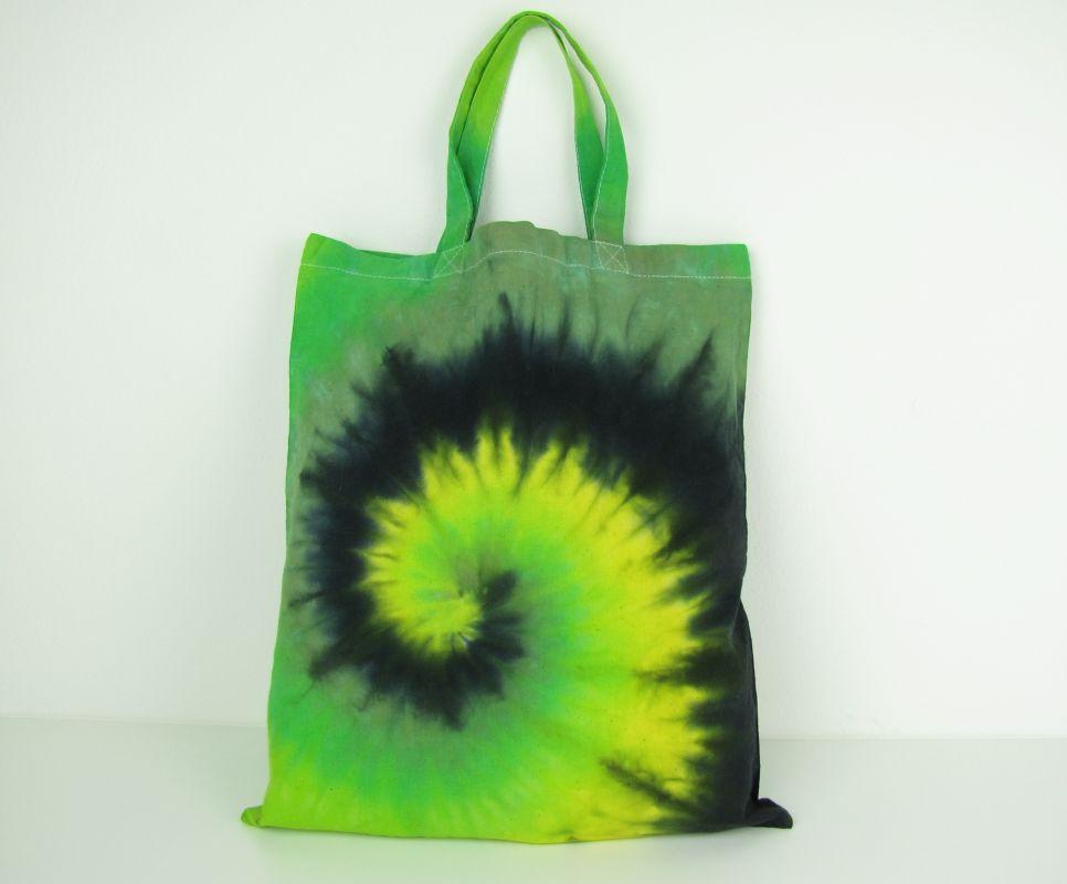 Látková taška batika Zelená