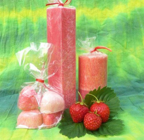 Vonné svíčky jahody