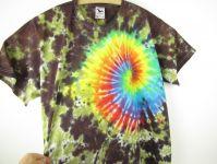 Batikované tričko 4XL Rainbow nature