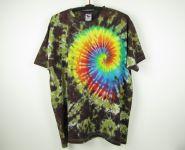 Batikované tričko Rainbow nature, 4XL