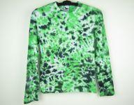 Batikované tričko zelené Midnight, S