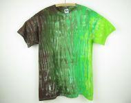 Batikované tričko Zelený strom, 2XL