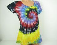 Dámské batikované tričko barevné