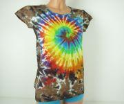 Dámské tričko Rainbow nature batika