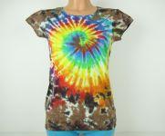 Dámské tričko/tunika batika Rainbow nature, S