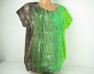 Dámské tričko/tunika batika Zelený strom, 2XL