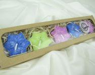 PLOVOUCÍ svíčka HVĚZDA - 5ks v dárkové krabičce